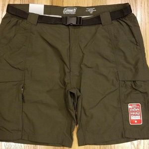 Coleman Hiking Shorts NWT Olive Green